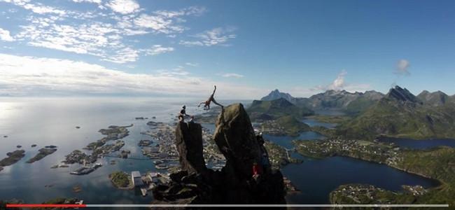 Salto mezi skalními špicemi – 355 metrů nad mořem