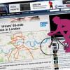 """Cyklista """"nakreslil"""" do mapy Londýna 149tikilometrového sněhuláka"""