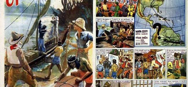 ZA POKLADY STARÝCH INKŮ: komiks z časopisů Vpřed z let 1947-1948