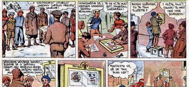 Komiks Jaroslava Foglara a Jana Fischera z let 1945/1946: MEDVĚDÍ DRUŽINA