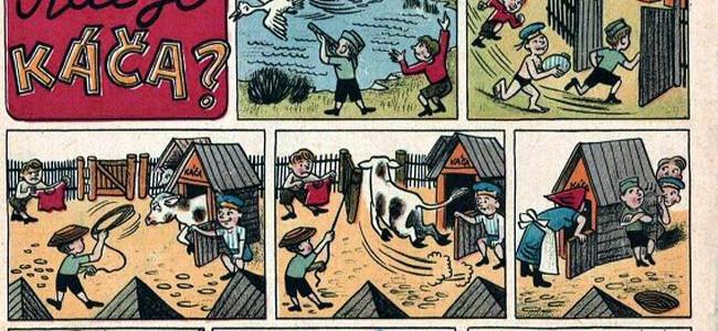 KDE JE KÁČA? Komiks z roku 1957 o dobrodružném stíhání uprchlíka