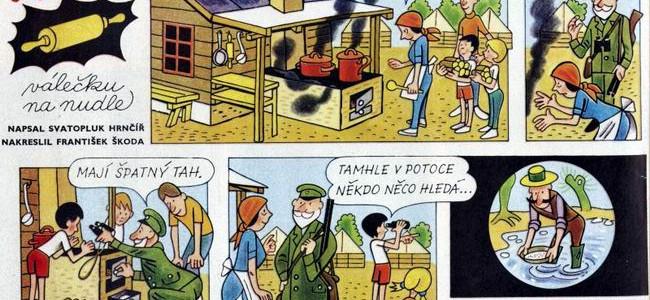 Tajemství válečku na nudle – komiks z časopisu Ohníček z roku 1987