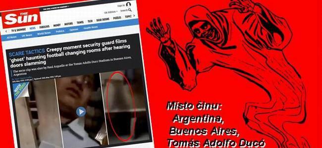 Video: DUCH MLÁTÍCÍ DVEŘMI vyděsil nočního strážce stadionu v Buenos Aires