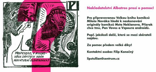Albatros hledá ztracené komiksy Miloše Nováka