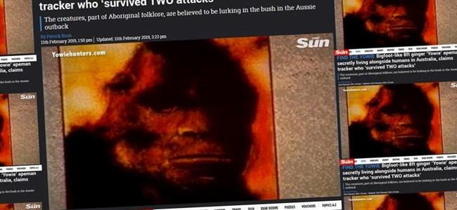 Austrálie: další záběry OPIČÍHO MUŽE – YOWIEHO (video uvnitř)