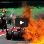 Ohnivé exploze při zastávkách vozů F1