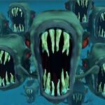 Skrytá kamera: Piraně útočí!