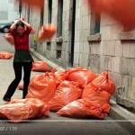 Skrytá kamera: Pytle s odpadky