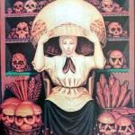 Optický klam: Žena nebo lebka?