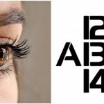 Optický klam: Vodorovně písmena, svisle číslice…