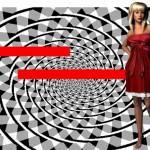 Optický klam: Červené úsečky