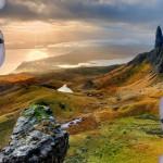 Nad skotskou pláží proletělo UFO