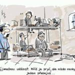 Miroslav Kemel kreslí vtip pro dnešní den