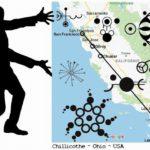 Geometrické souvislosti mezi americkými obrazci v obilí