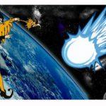 Dlouhá bílá žhnoucí kometa…